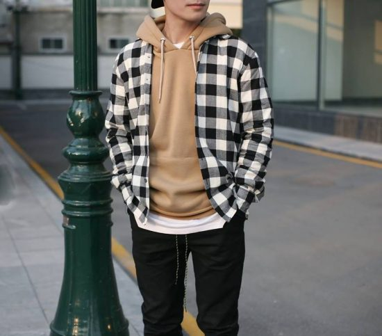 flannel layering outfit nam