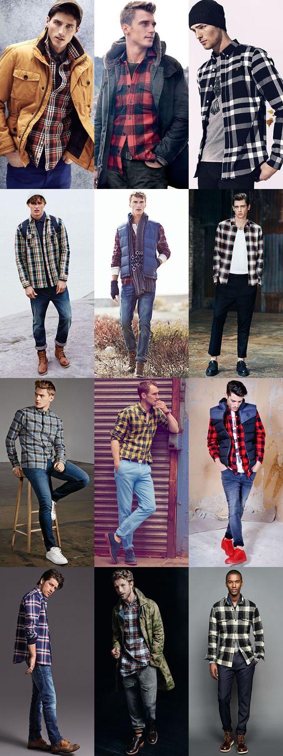 Phối đồ với áo flannel nam