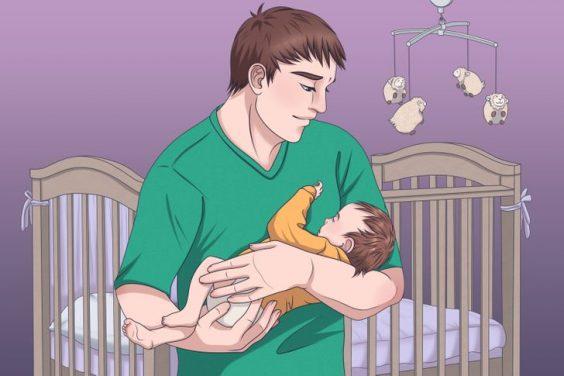 cách xoa đầu cho bé ngủ