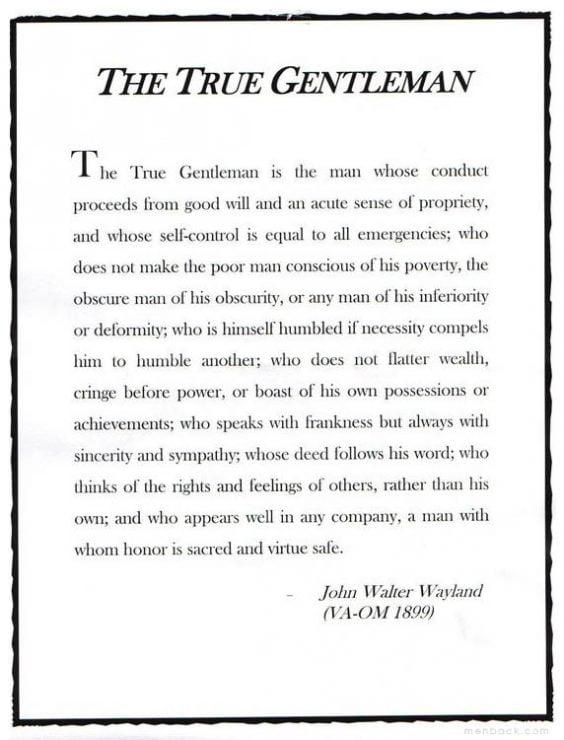 đức tính của quý ông đích thực