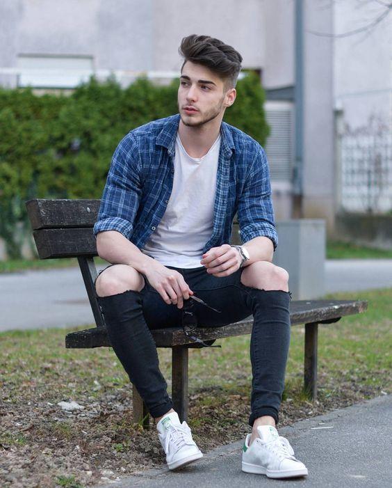 phối quần jeans và áo sơ mi