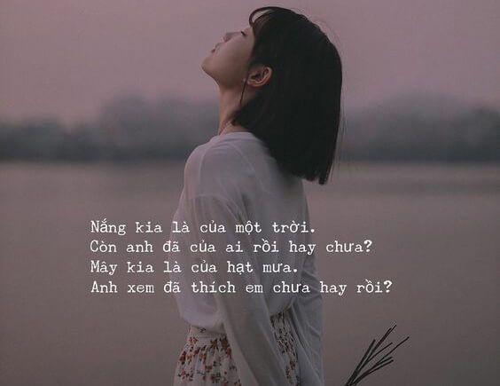 Stt thơ tình yêu dễ thương