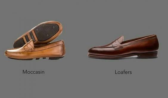 Phân biệt giày Loafer và Moccasins