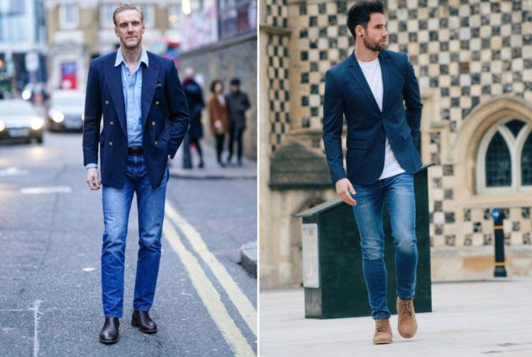 quần jeans xanh navy