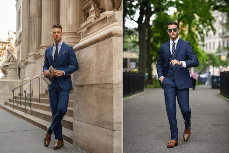 suit xanh navy menback